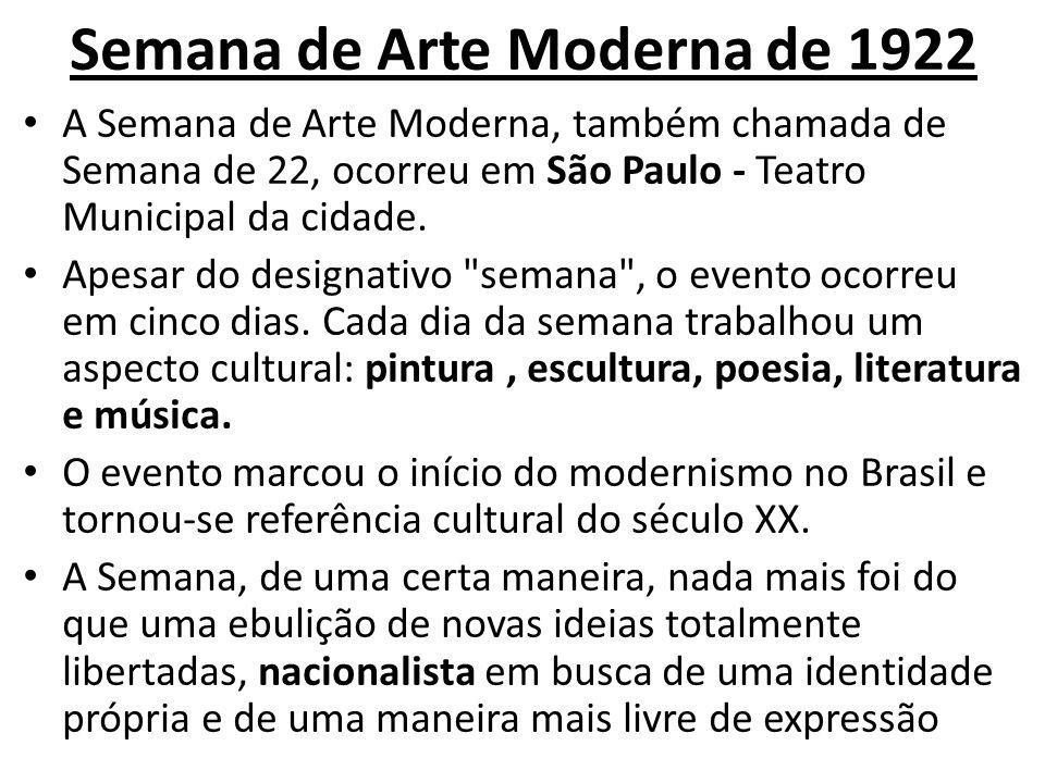 Semana de Arte Moderna de 1922