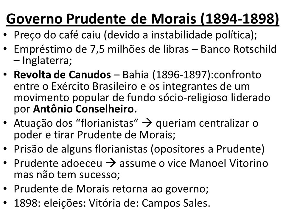Governo Prudente de Morais (1894-1898)