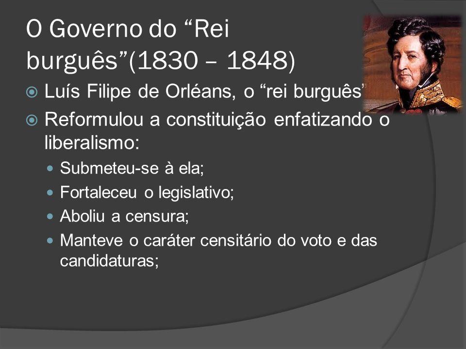 O Governo do Rei burguês (1830 – 1848)