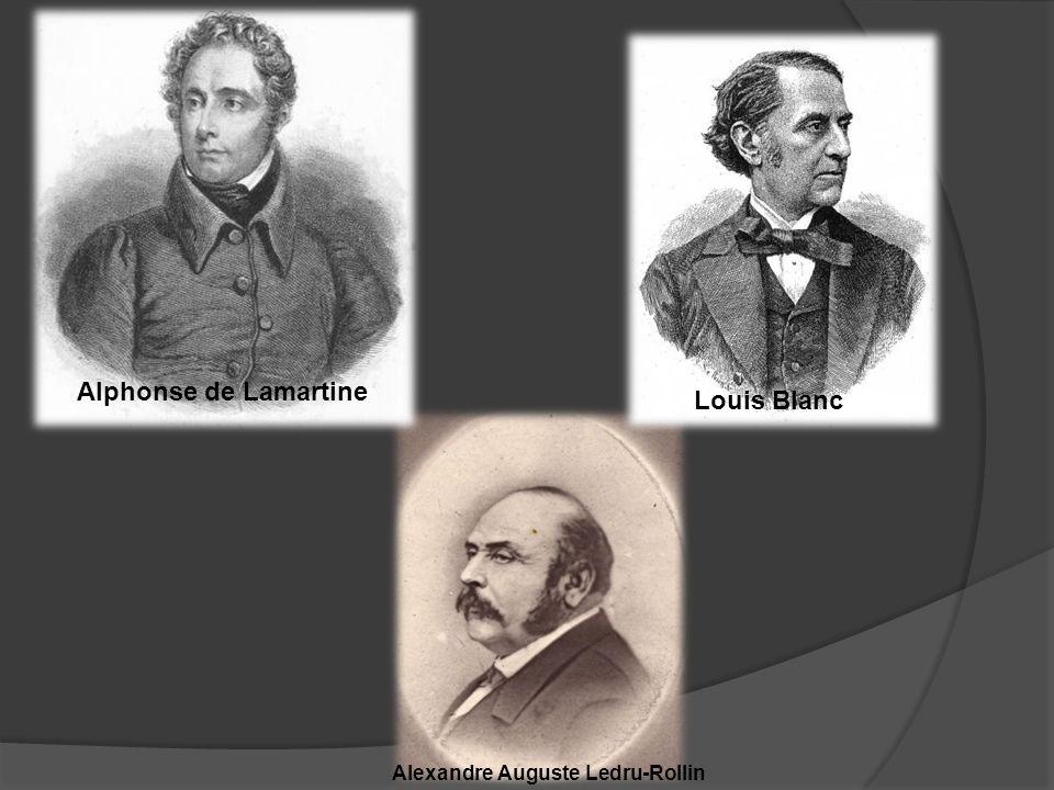 Alphonse de Lamartine Louis Blanc Alexandre Auguste Ledru-Rollin