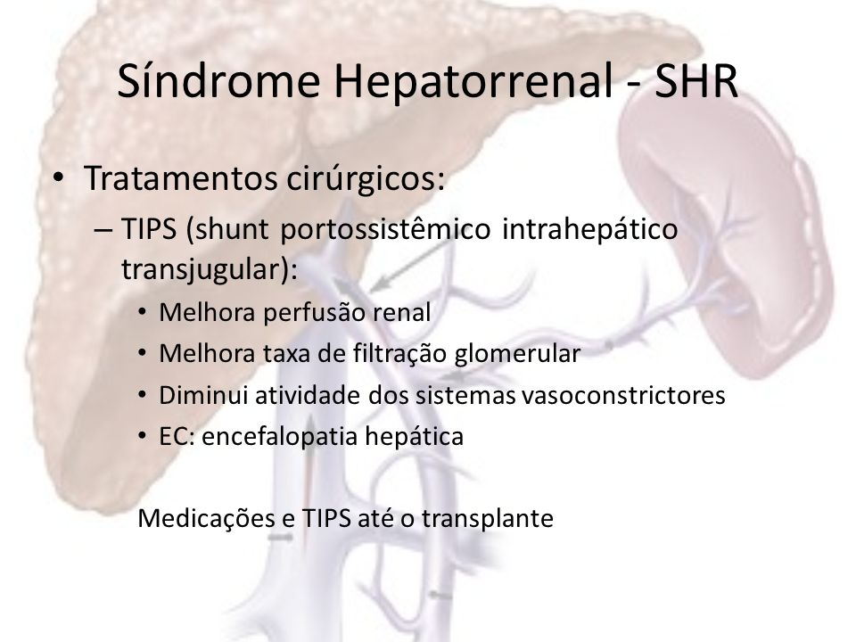 Síndrome Hepatorrenal - SHR