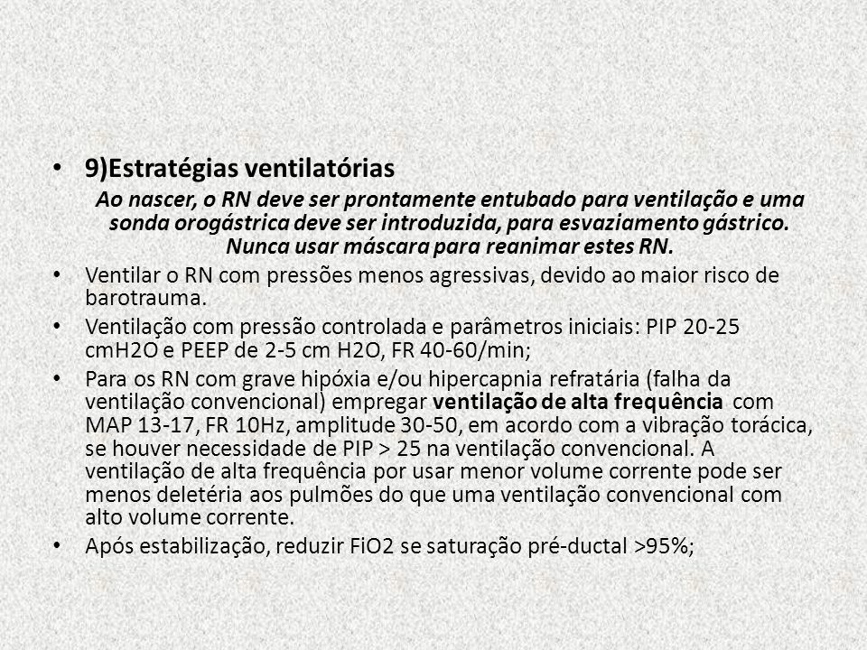 9)Estratégias ventilatórias