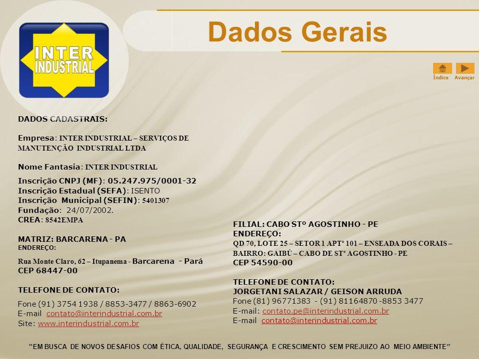 Dados Gerais DADOS CADASTRAIS: