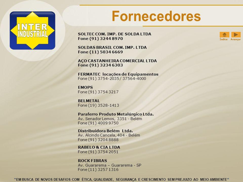 Fornecedores SOLTEC COM. IMP. DE SOLDA LTDA Fone (91) 3244 8970