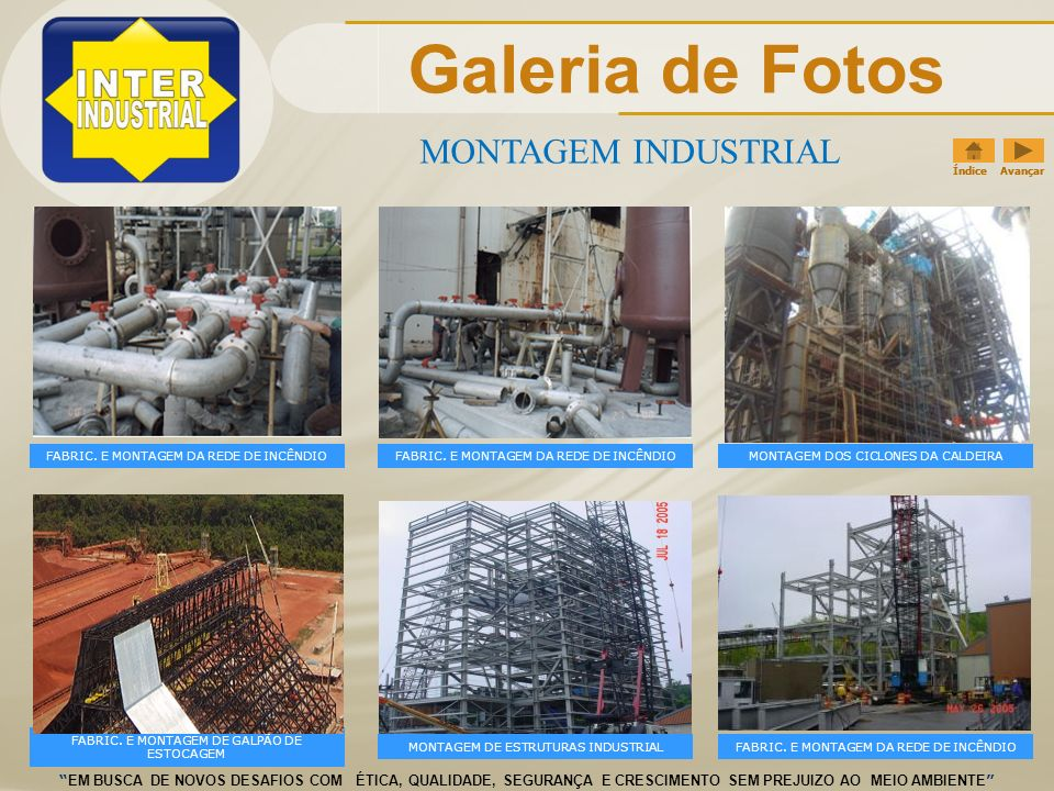 Galeria de Fotos MONTAGEM INDUSTRIAL