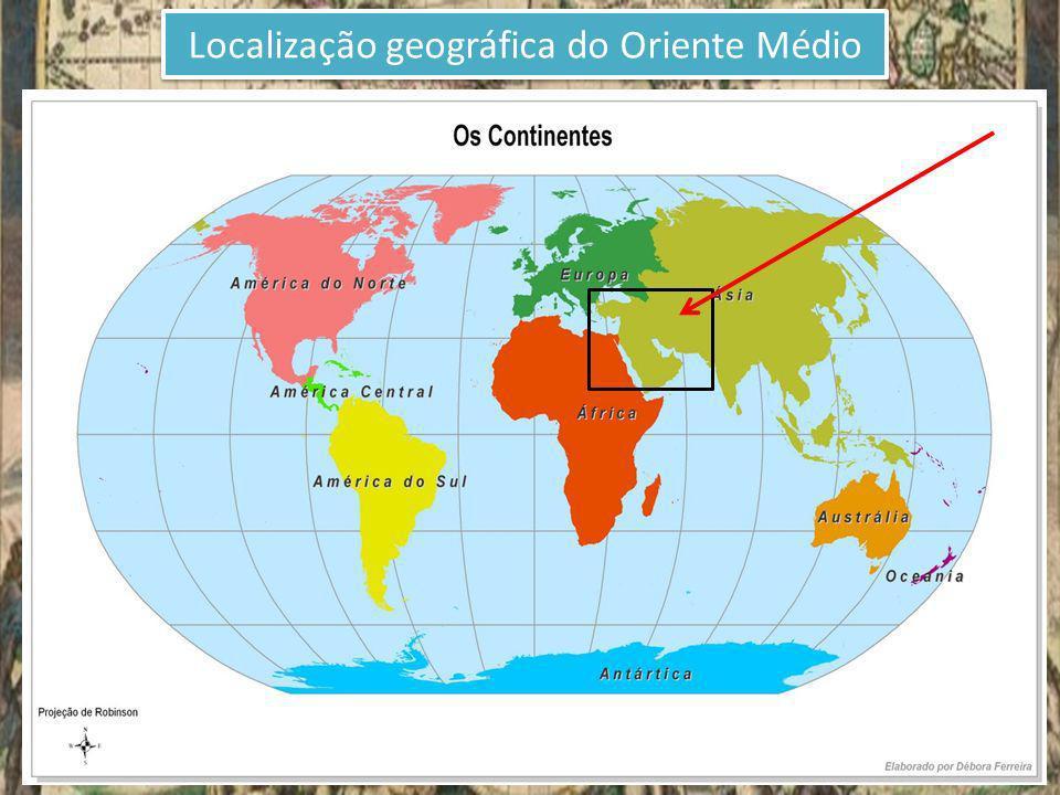 Localização geográfica do Oriente Médio