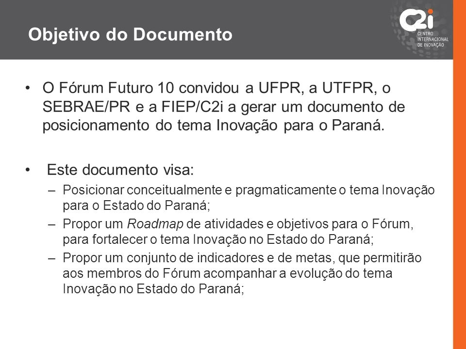 Objetivo do Documento