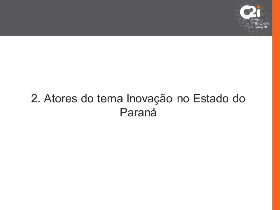2. Atores do tema Inovação no Estado do Paraná