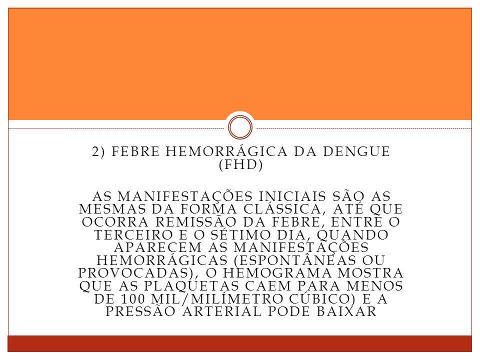 2) Febre hemorrágica da dengue (FHD)