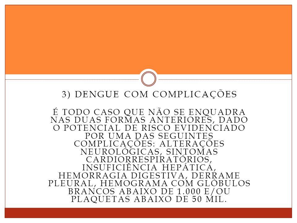 3) Dengue com complicações