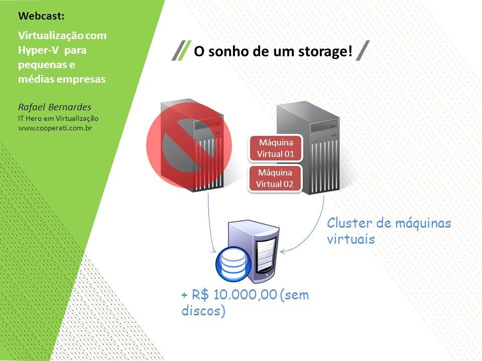 O sonho de um storage! Cluster de máquinas virtuais