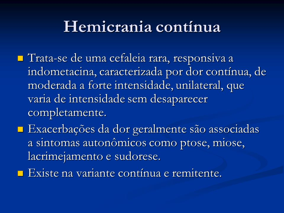 Hemicrania contínua