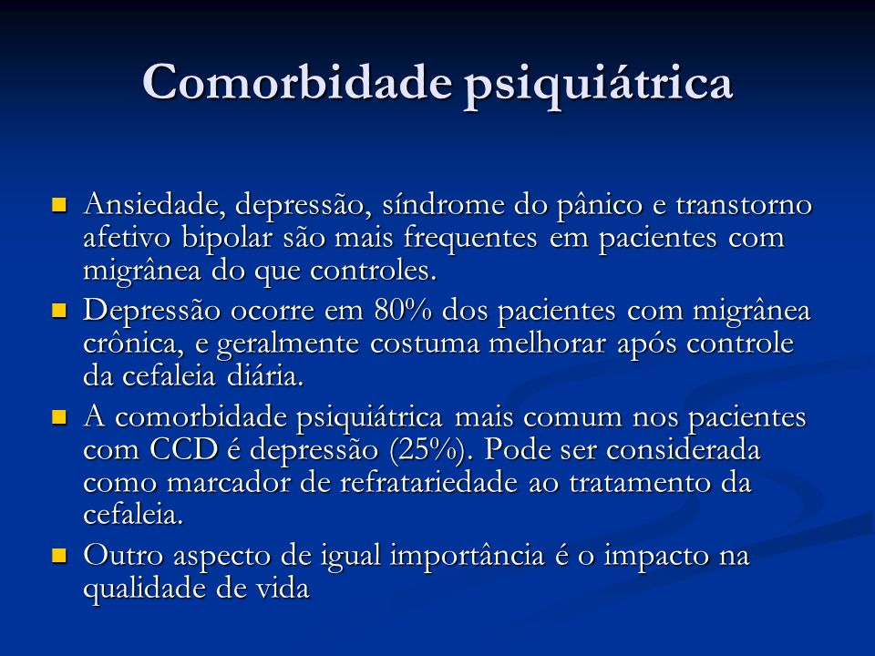 Comorbidade psiquiátrica