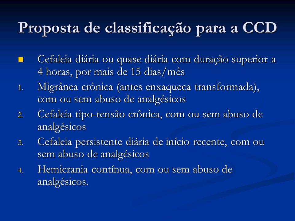 Proposta de classificação para a CCD