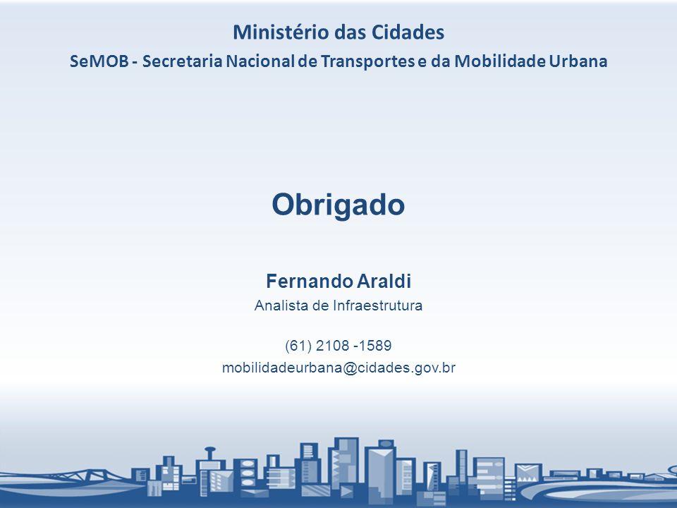 Obrigado Ministério das Cidades