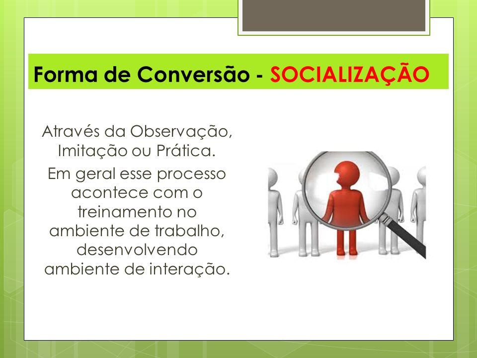 Forma de Conversão - SOCIALIZAÇÃO