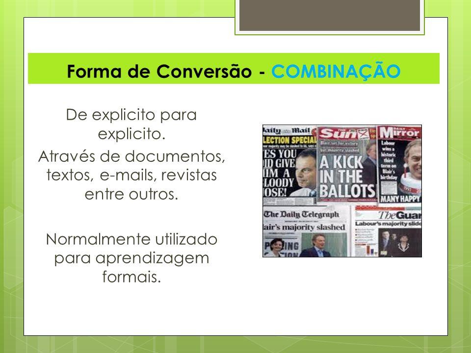 Forma de Conversão - COMBINAÇÃO