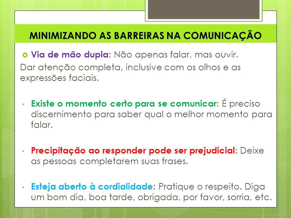 MINIMIZANDO AS BARREIRAS NA COMUNICAÇÃO