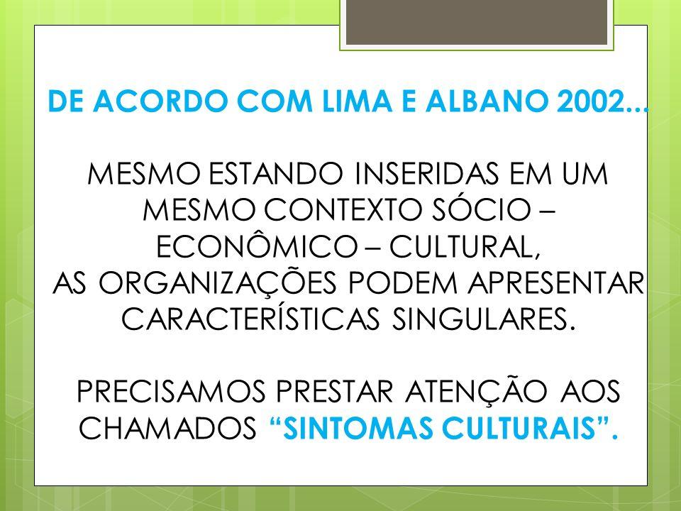 DE ACORDO COM LIMA E ALBANO 2002