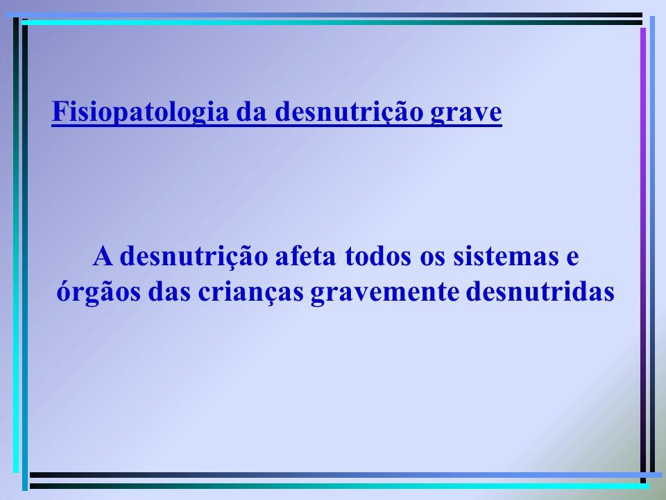 Fisiopatologia da desnutrição grave
