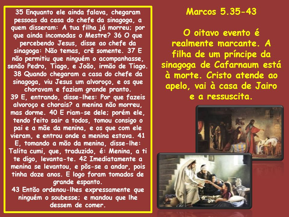 Marcos 5.35-43