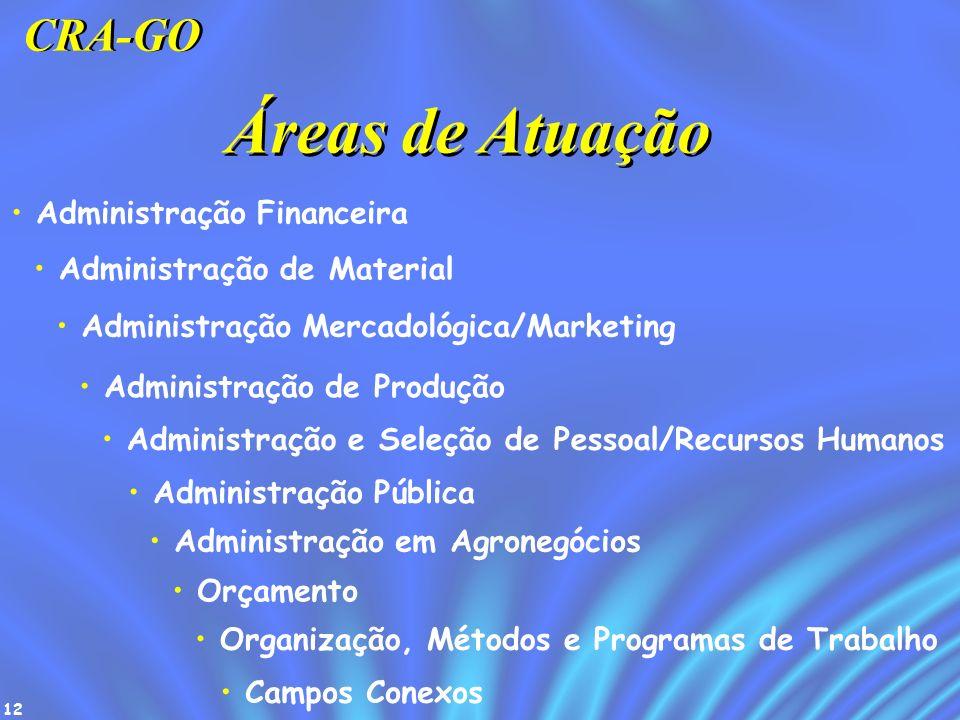 Áreas de Atuação CRA-GO Administração Financeira