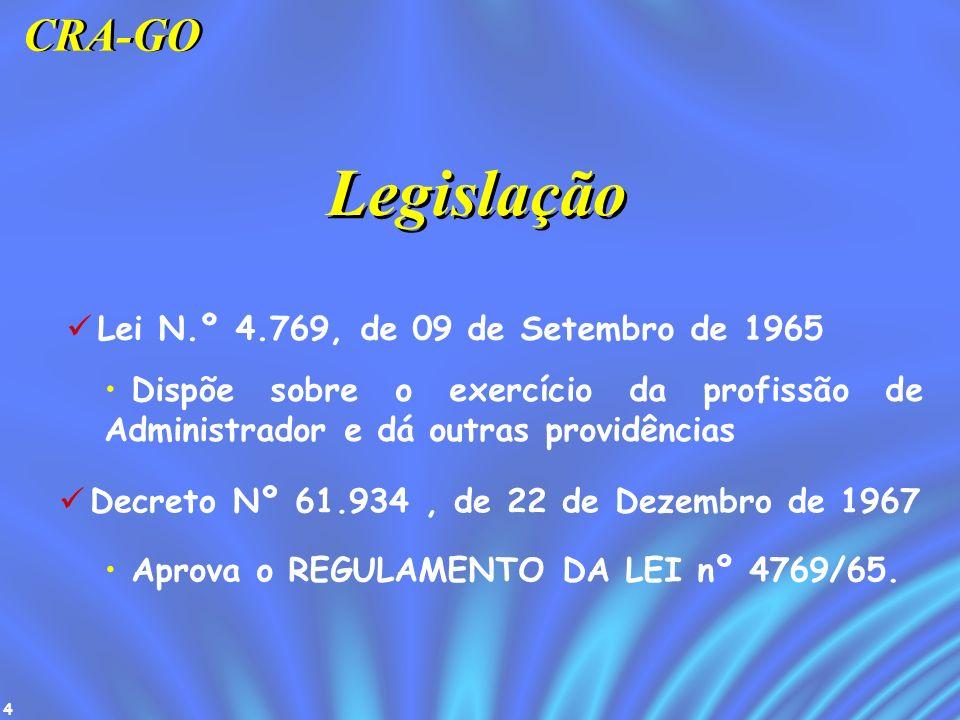 Legislação CRA-GO Lei N.º 4.769, de 09 de Setembro de 1965