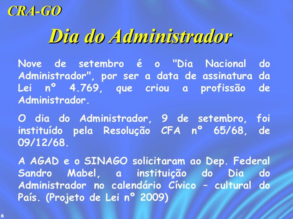 Dia do Administrador CRA-GO