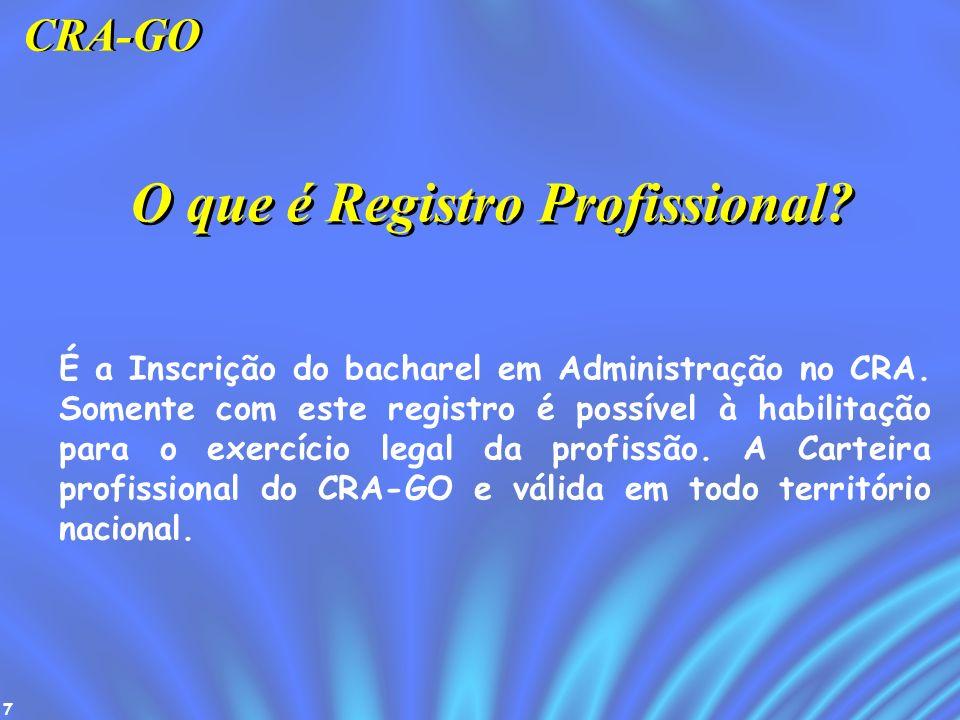O que é Registro Profissional