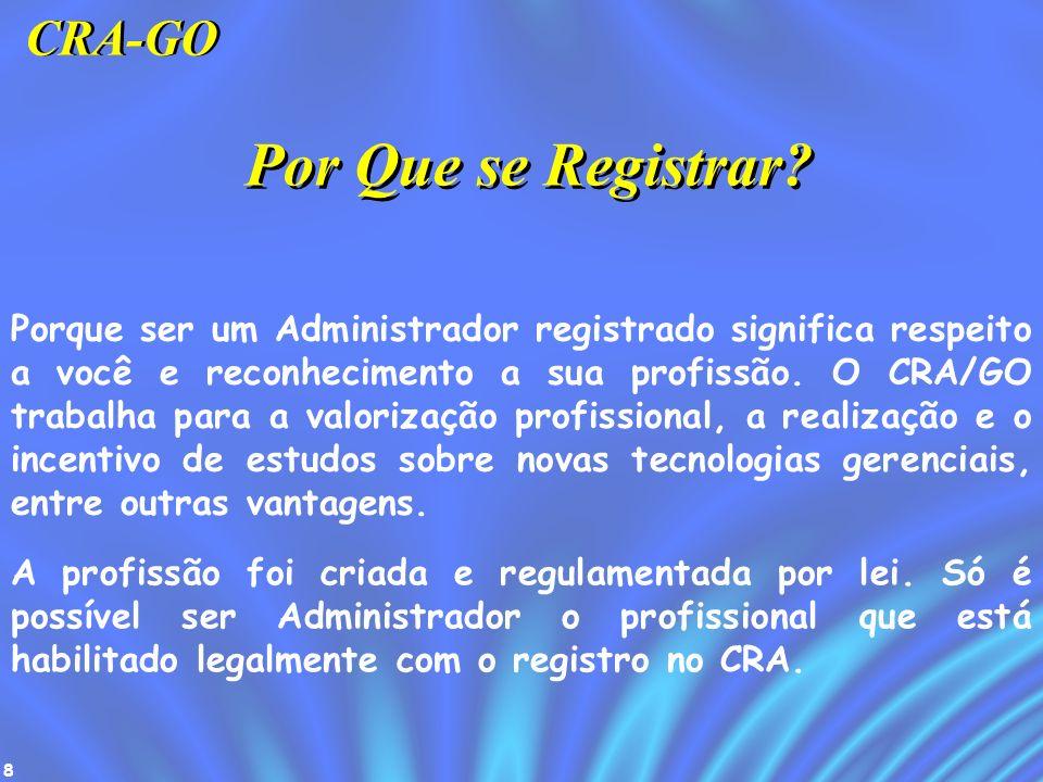 Por Que se Registrar CRA-GO