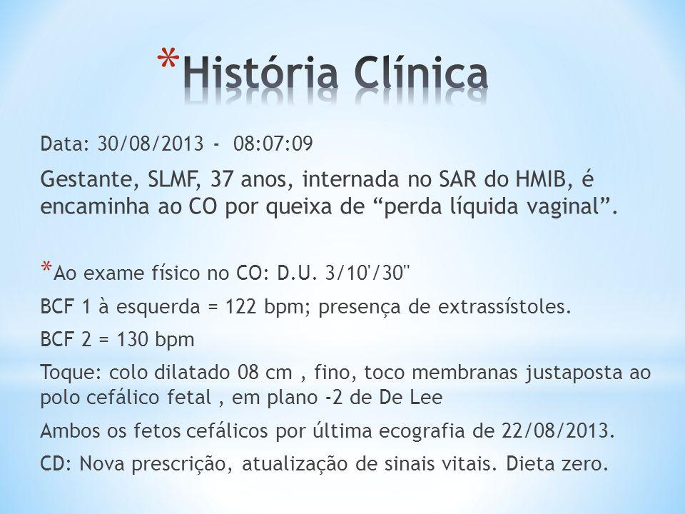 História Clínica Data: 30/08/2013 - 08:07:09.