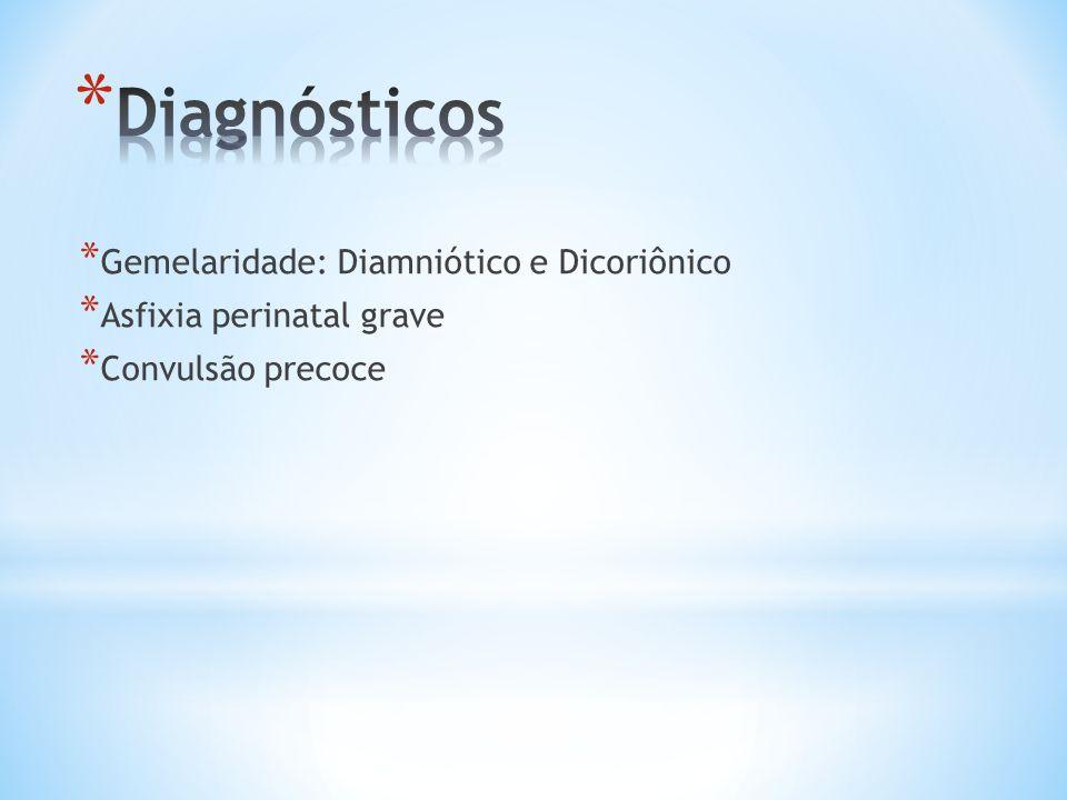 Diagnósticos Gemelaridade: Diamniótico e Dicoriônico