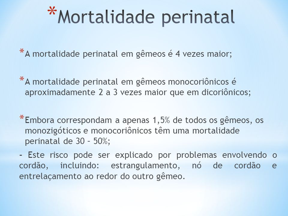 Mortalidade perinatal