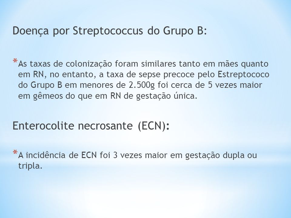 Doença por Streptococcus do Grupo B: