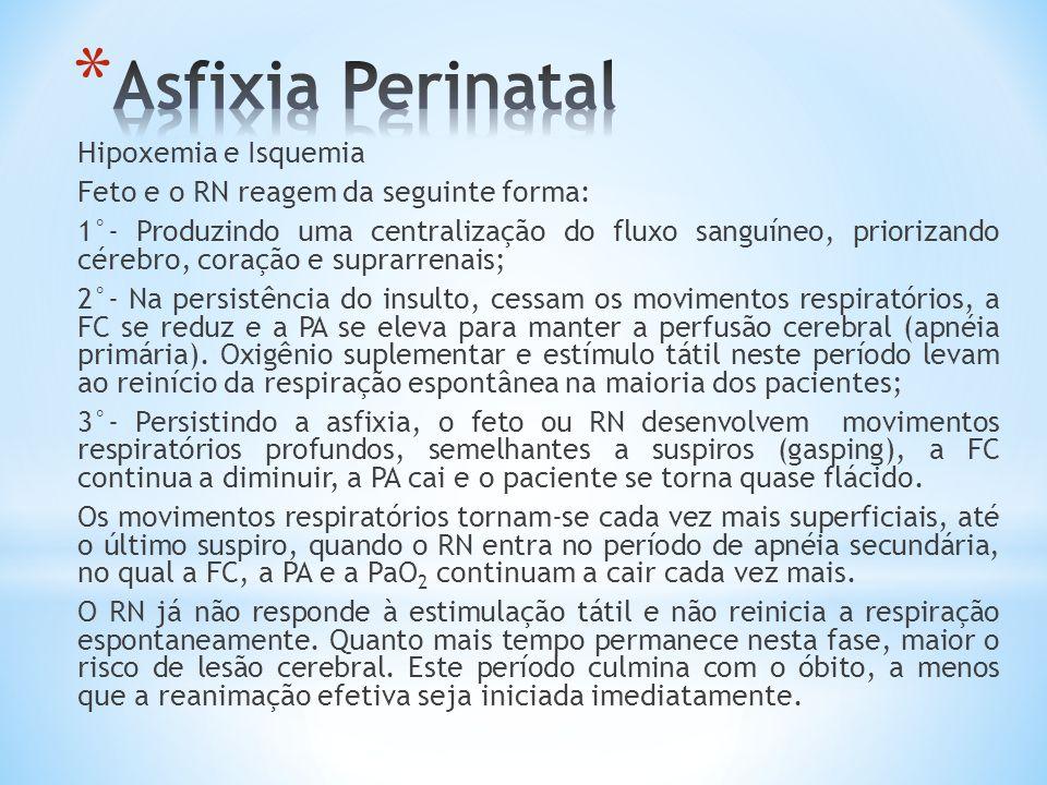 Asfixia Perinatal Hipoxemia e Isquemia