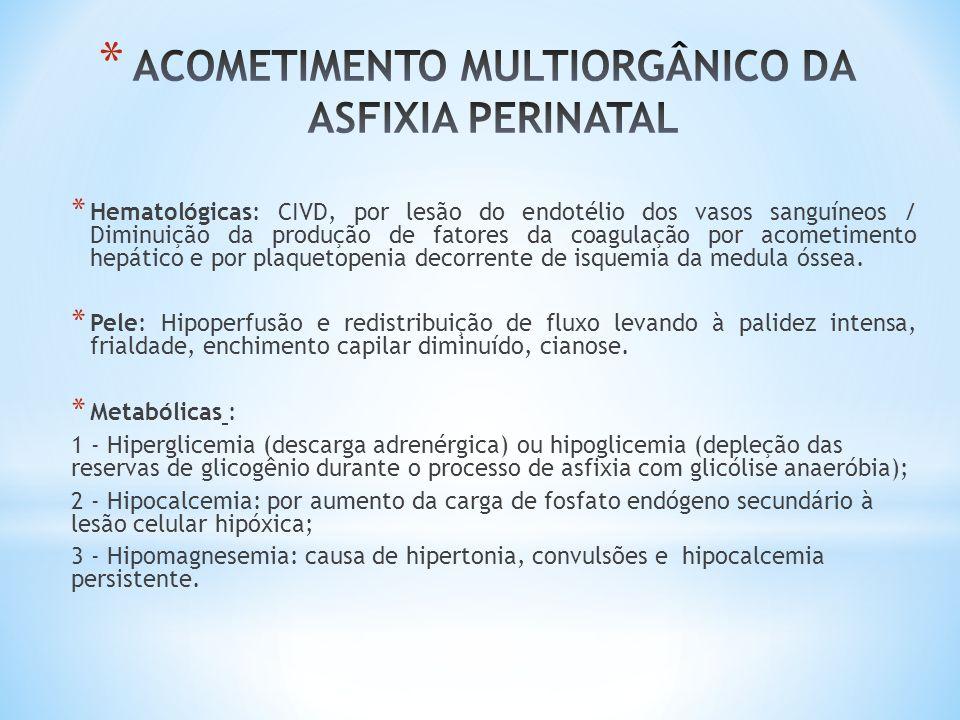ACOMETIMENTO MULTIORGÂNICO DA ASFIXIA PERINATAL