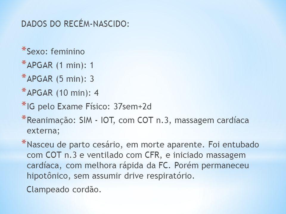 DADOS DO RECÉM-NASCIDO: