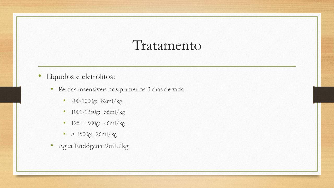Tratamento Líquidos e eletrólitos: