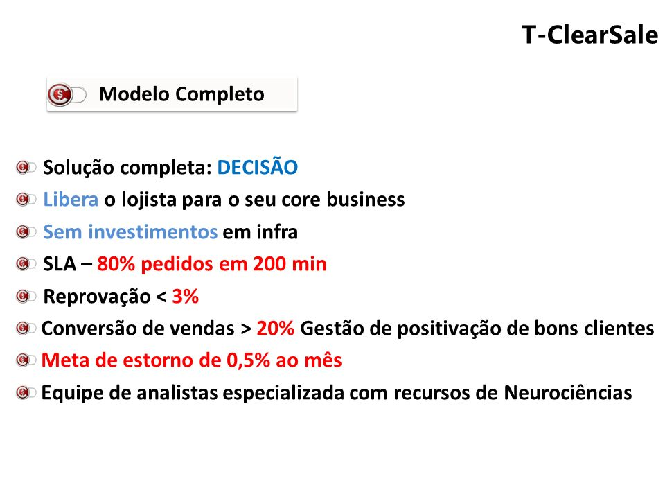T-ClearSale Modelo Completo Solução completa: DECISÃO