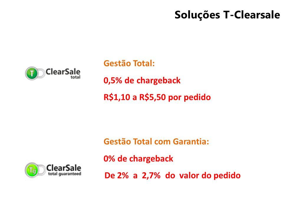 Soluções T-Clearsale Gestão Total: 0,5% de chargeback