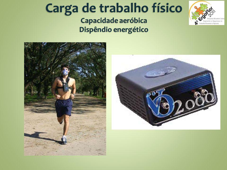 Carga de trabalho físico Capacidade aeróbica Dispêndio energético