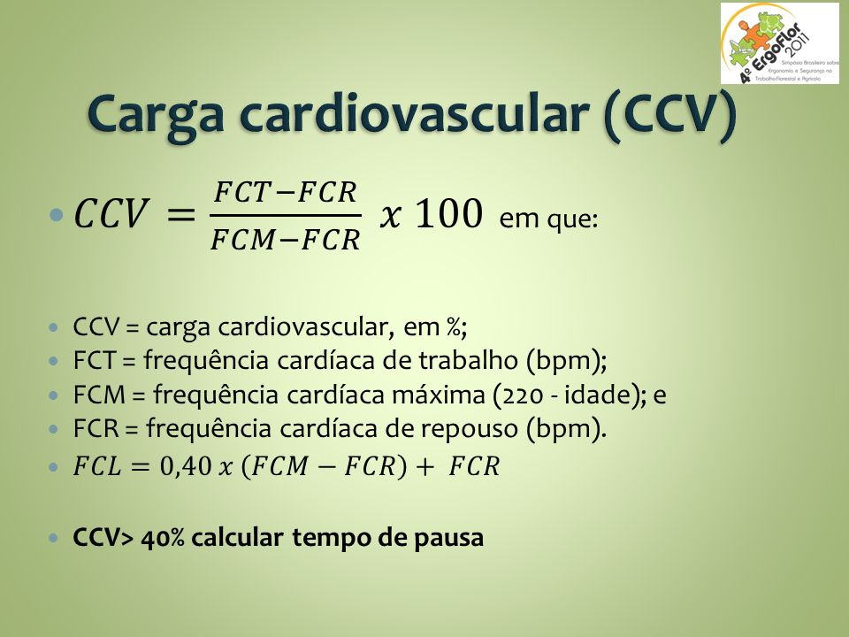 Carga cardiovascular (CCV)
