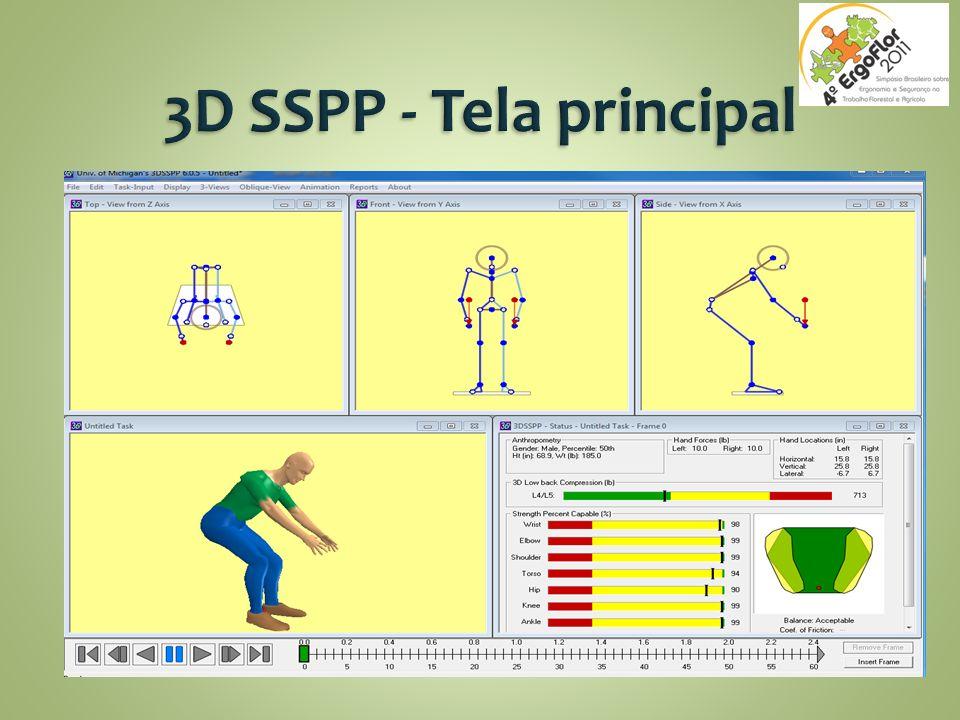 3D SSPP - Tela principal