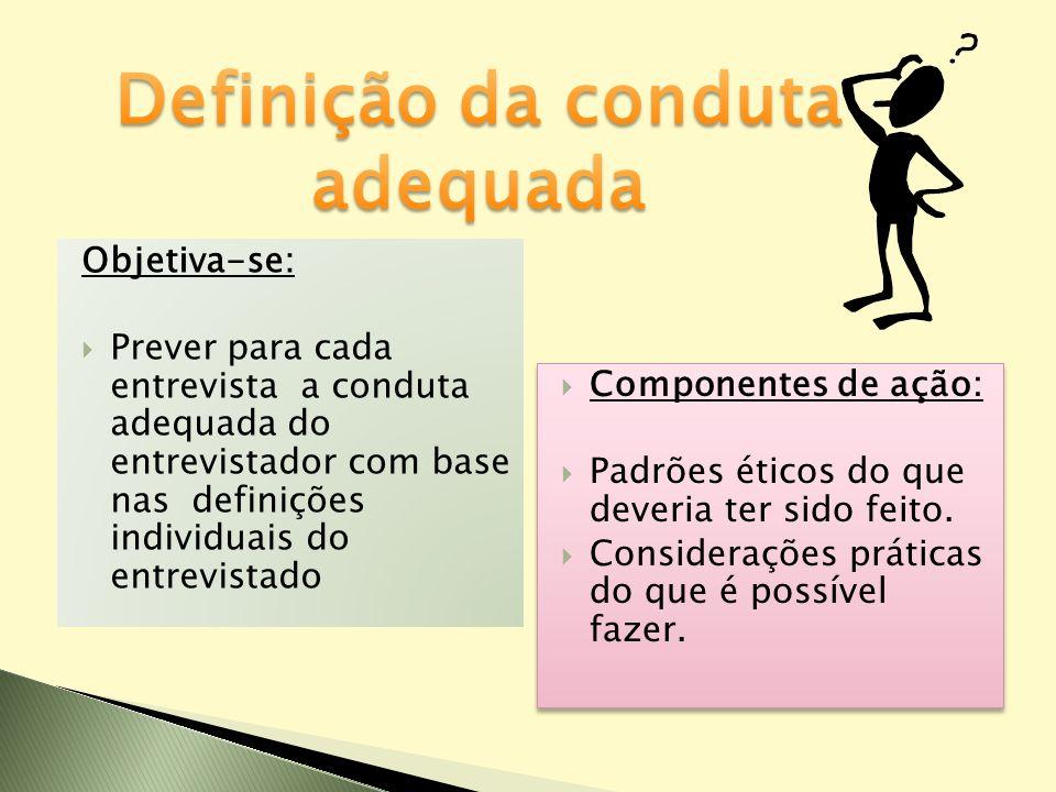 Definição da conduta adequada