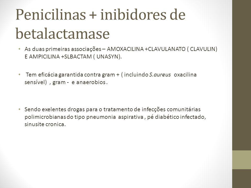 Penicilinas + inibidores de betalactamase