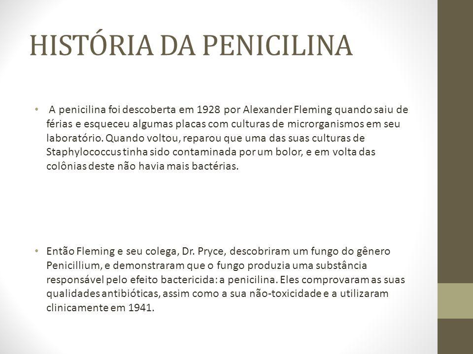 HISTÓRIA DA PENICILINA