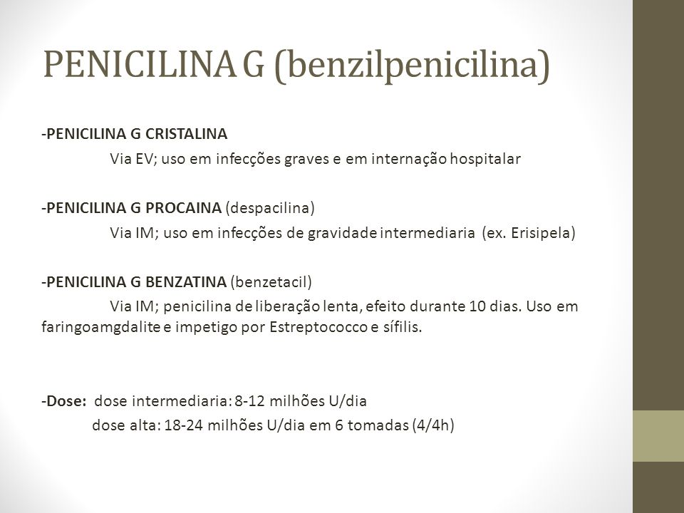 PENICILINA G (benzilpenicilina)