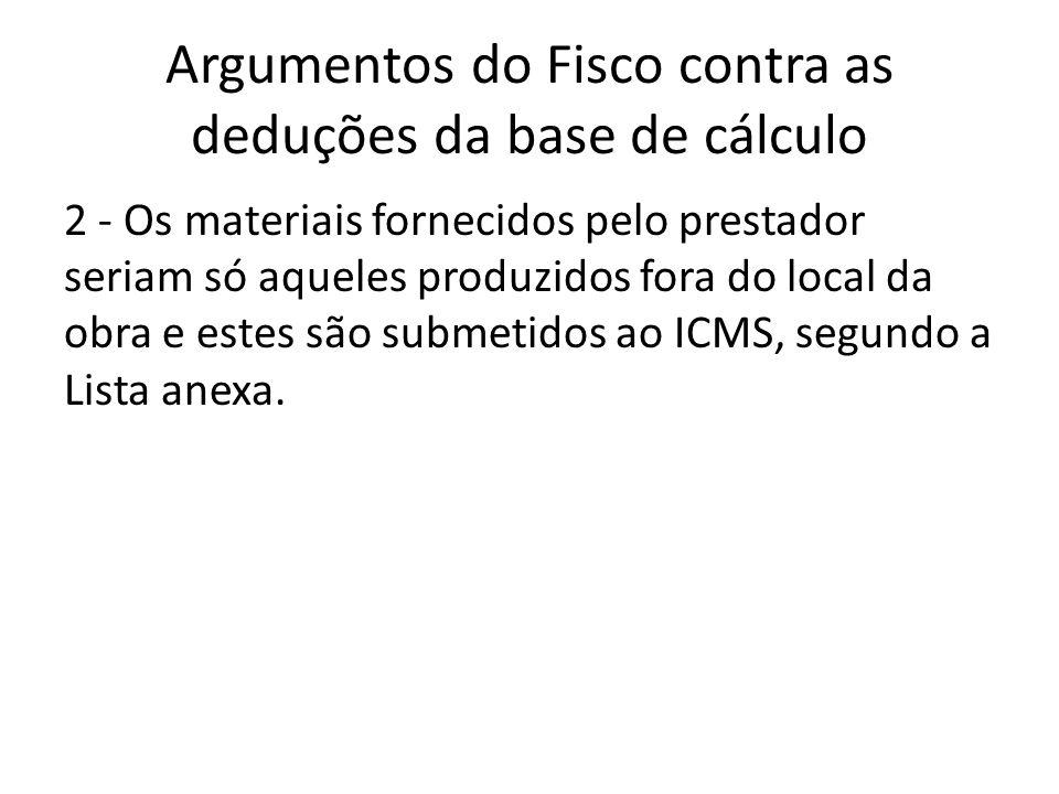 Argumentos do Fisco contra as deduções da base de cálculo