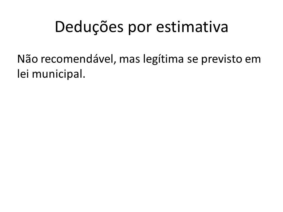 Deduções por estimativa