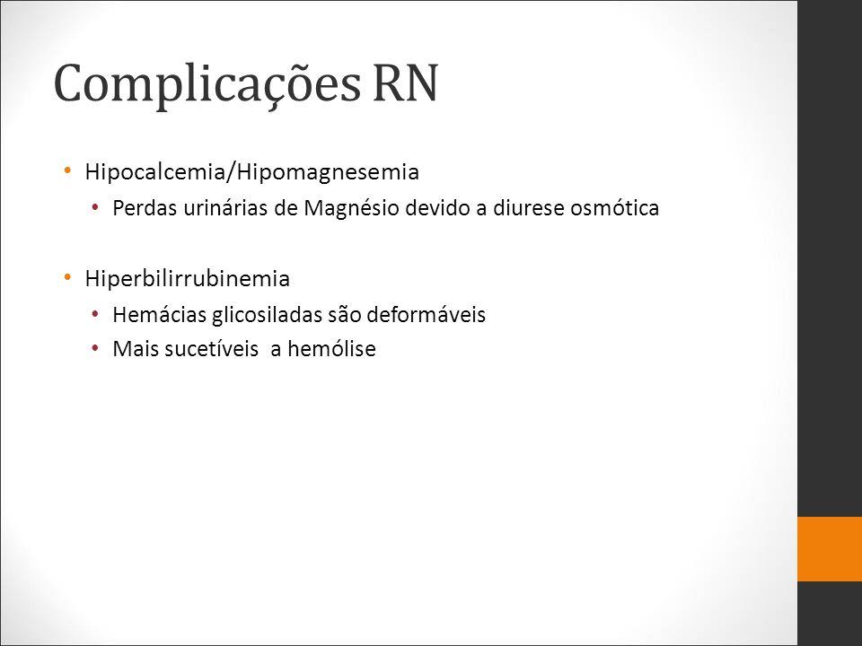 Complicações RN Hipocalcemia/Hipomagnesemia Hiperbilirrubinemia